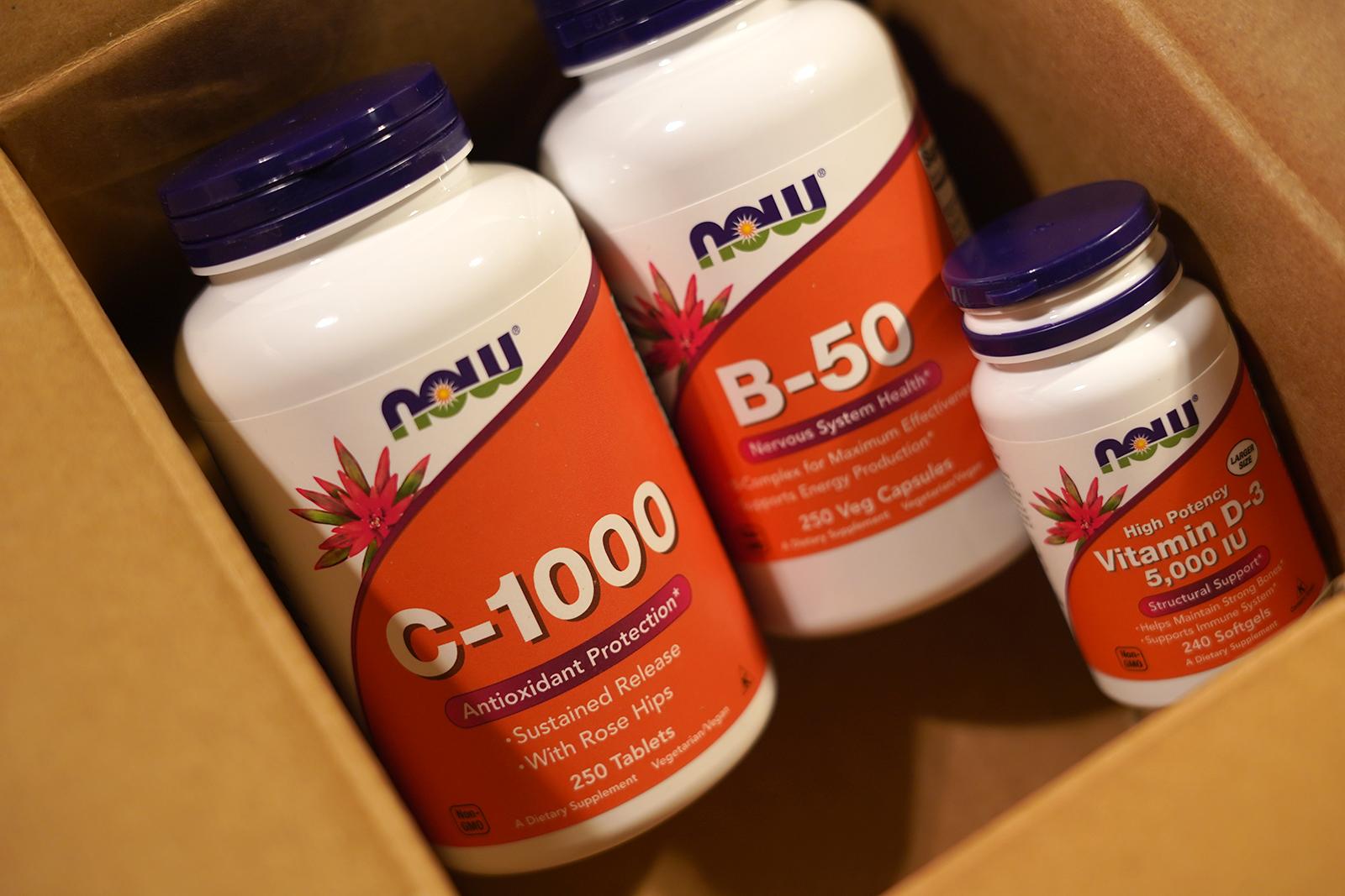 now foods vitaminC vitaminB vitaminD