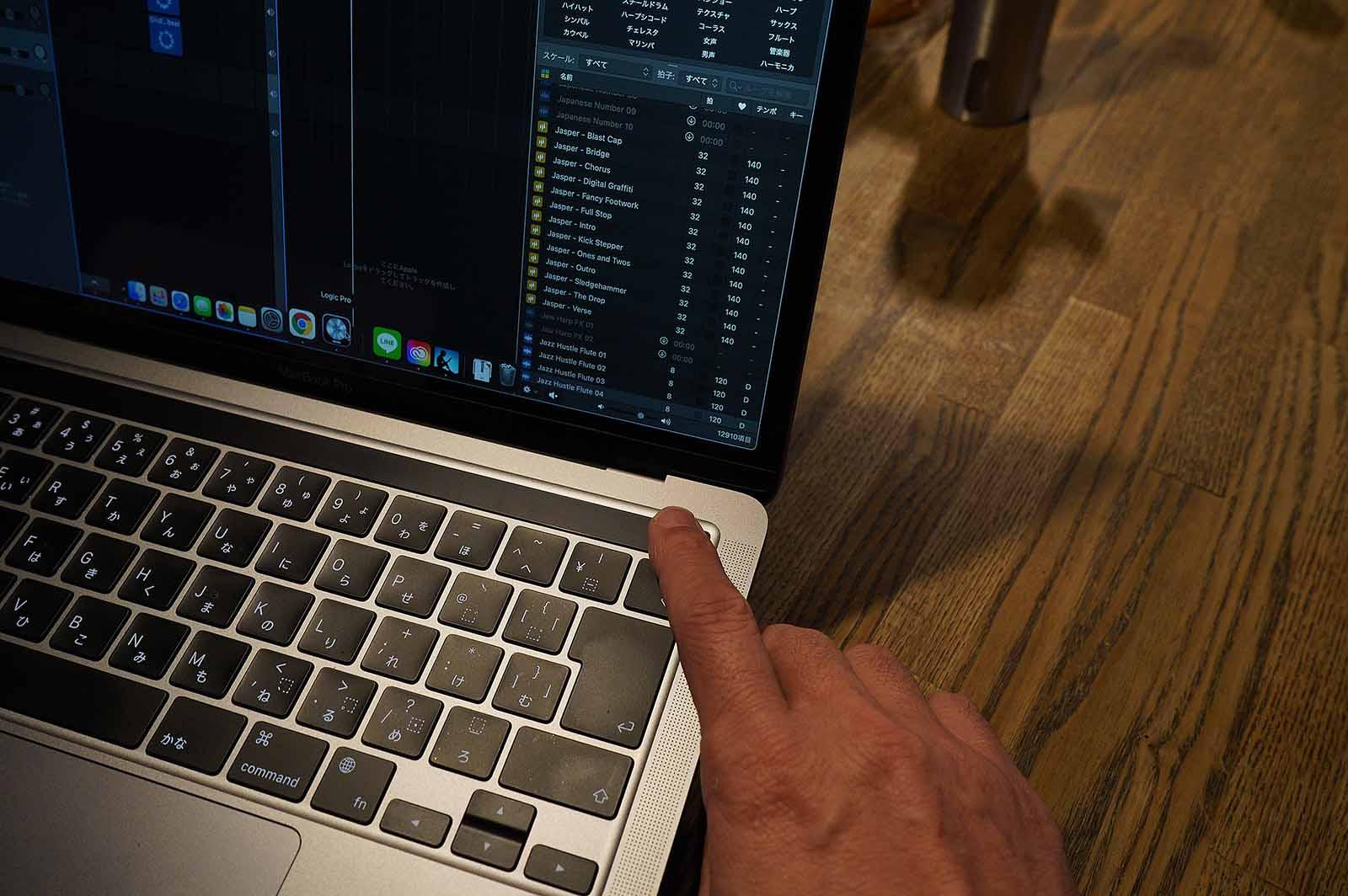 M1 MacBook Pro 2020 指紋認証