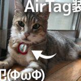 【紛失防止タグ】Apple AirTagを「脱走猫」前科4犯につけて運用三ヶ月目〜AirTag用ケースを変えてみました。